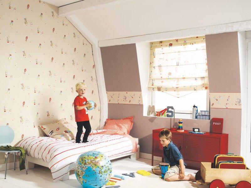 Behang Kinderkamer Ruimtevaart : Ruimtevaart behang happy world met oranje elementen behang