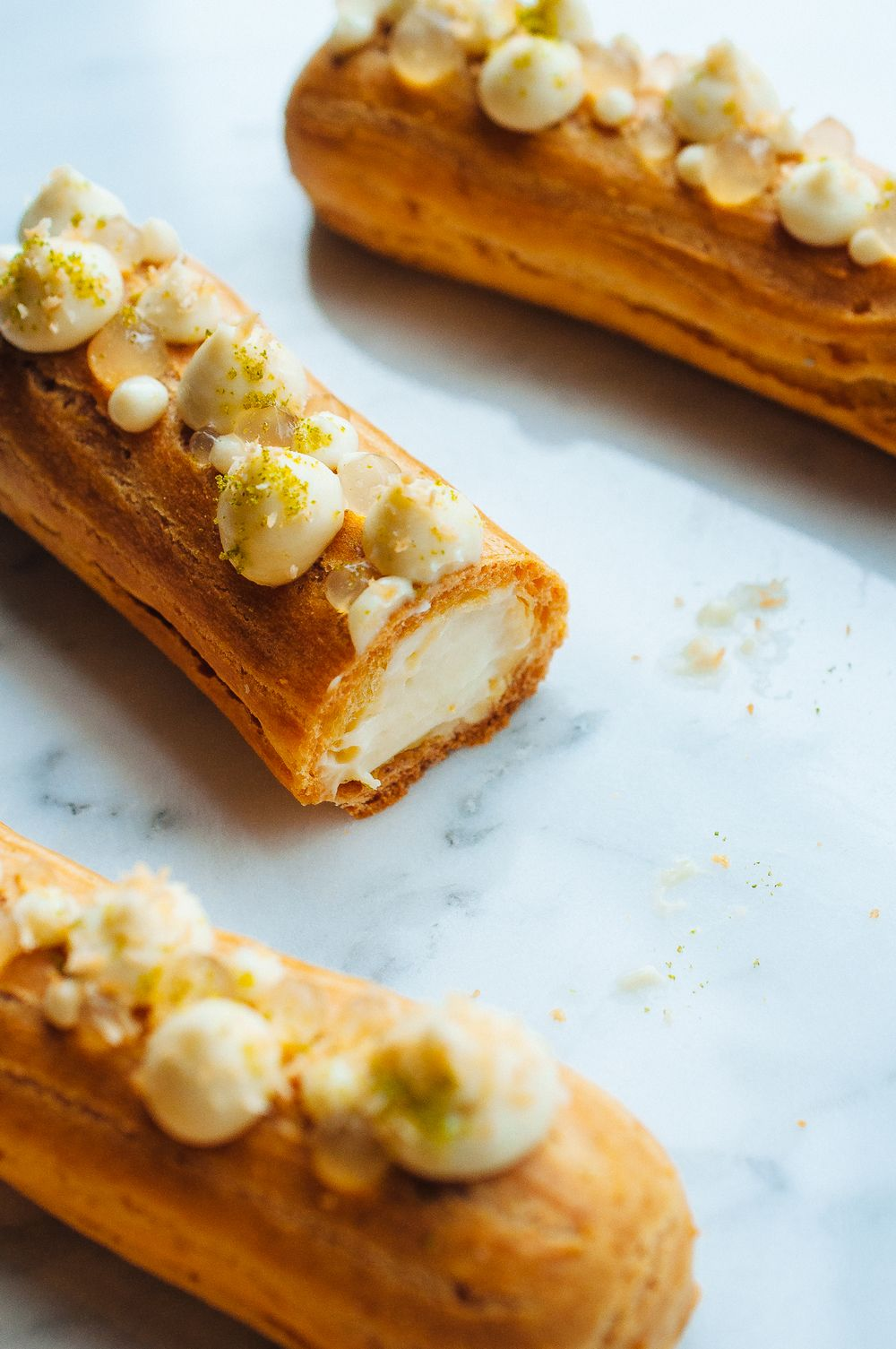 Photo of Lime and Coconut Éclairs —