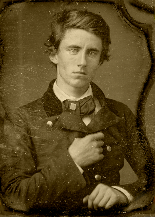 Benjamin Piatt Runkle,age 21,c. 1857. Union general and as the founder of the Sigma Chi fraternity,the original frat boy.  Submitted by dynamoe