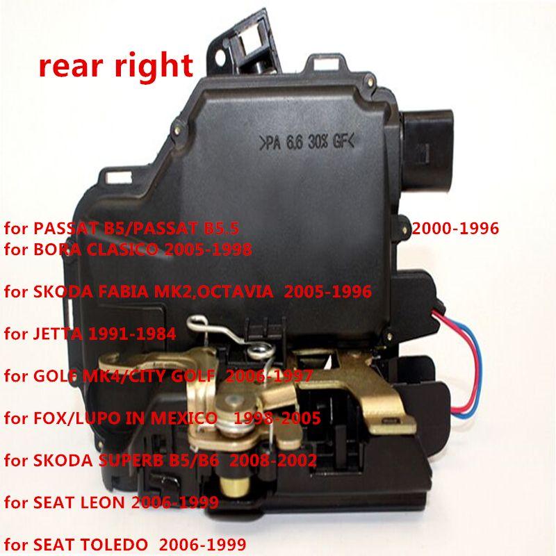 Rear Right Door Lock Mechanism For Vw Golf Bora Lupo Passat B5 Mk4 3b4839016a Rr For Seat Skoda Skoda Superb Skoda Skoda Fabia