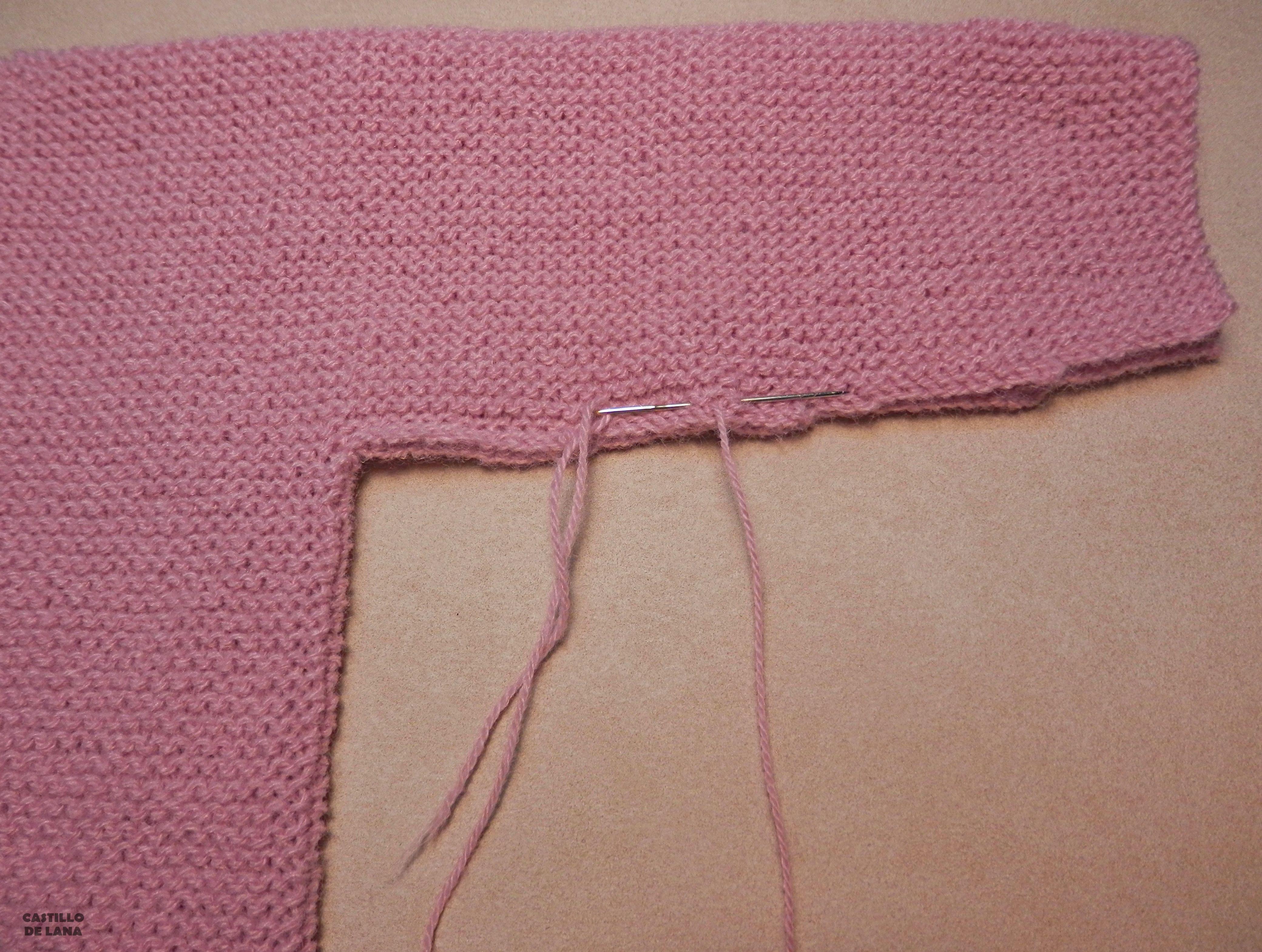 Explicaci n jersey rosa sencillo para beb bebe - Jerseys faciles de hacer ...
