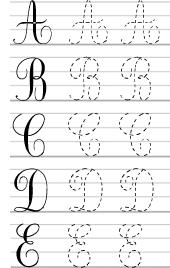 alphabet majuscules criture cursive