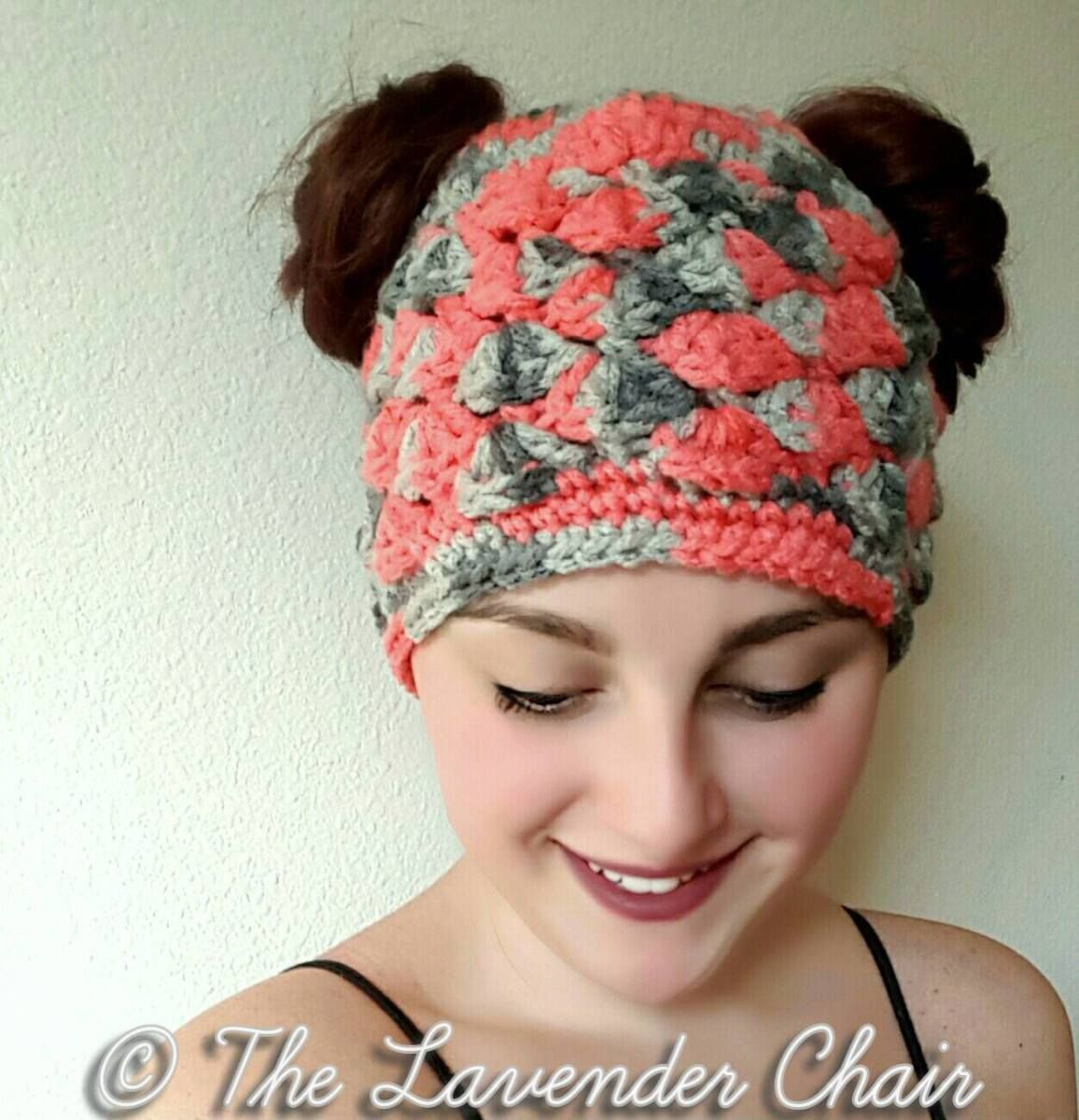 Shelby\'s Double Bun Beanie Crochet Pattern