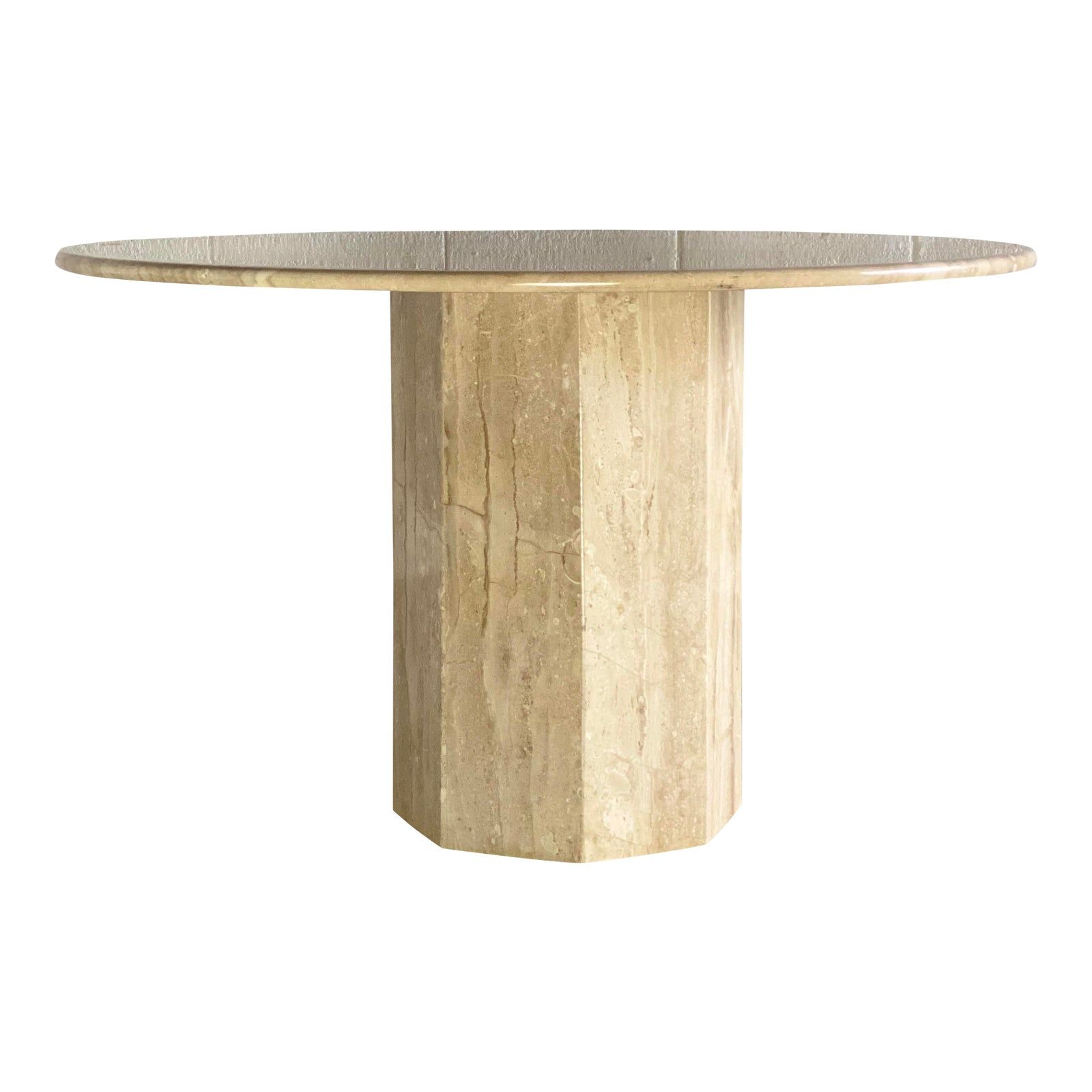 Https Chairish Prod Freetls Fastly Net Image Product Sized 5822313a 51ca 4f81 9384 013f8d30626c 1970s Italian Round Tra Dining Table Stone Dining Table Table [ 1600 x 1600 Pixel ]