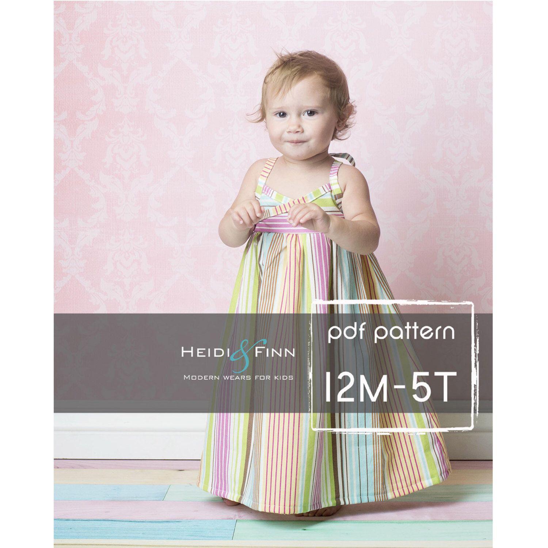 Summer maxi dress pattern and tutorial pdf mt easy sew long tank