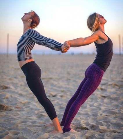 super yoga challenge poses friends 57 ideas yoga  yoga