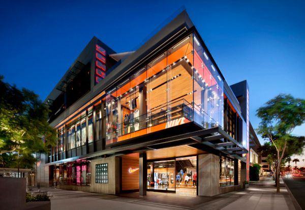 Nike Fieldhouse Store, Santa Monica, California, Designed ...