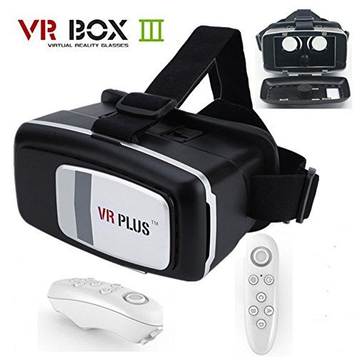 cde7ae96d3c8 SCHITEC 3D VR Box Virtual Reality Headset Glasses with Remote Control Mouse  for 4 to 6 inches smartphones iphone 6 6s 6s Plus Samsung Galaxy S7 S6 Edge  Note ...
