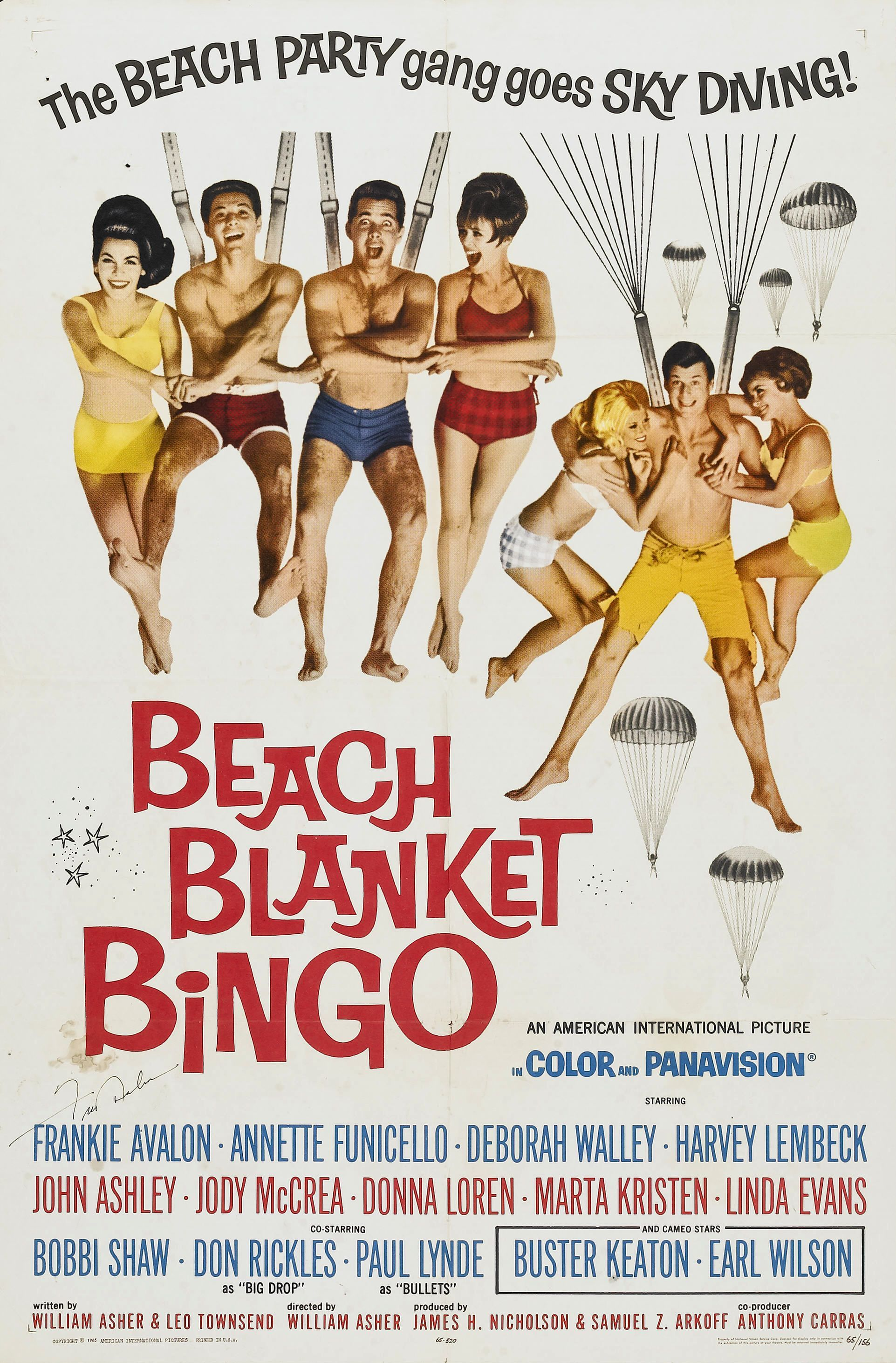 movie poster for the aip film quotbeach blanket bingoquot 1965