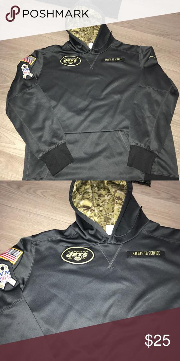 Nike ny jets NFL army sweatshirt hoodie