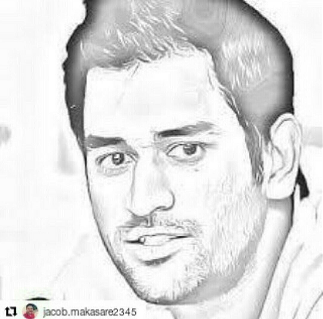 Cricket cool sketches ms portrait art desktop chennai super kings
