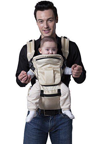 ECOSUSI Polyester Baby Carrier Infant Comfort Kid's Waist Stool Backpacks Carrier Belt Hip Seat Beige - http://parenting.mugamboglobalresources.com/ecosusi-polyester-baby-carrier-infant-comfort-kids-waist-stool-backpacks-carrier-belt-hip-seat-beige/
