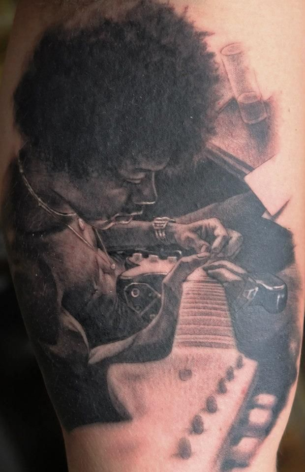 jimi hendrix fan tattoo jimi hendrix pinterest fan tattoo tattoo and guitar tattoo. Black Bedroom Furniture Sets. Home Design Ideas