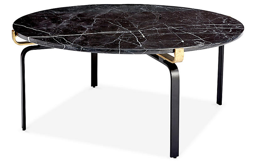 Juliette Round Coffee Table Black Gold Round Coffee Table Gold
