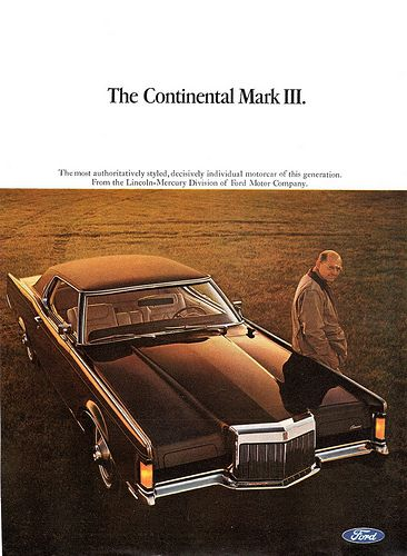 1968 Continental Mark Iii By Lincoln Advertisement S Car History