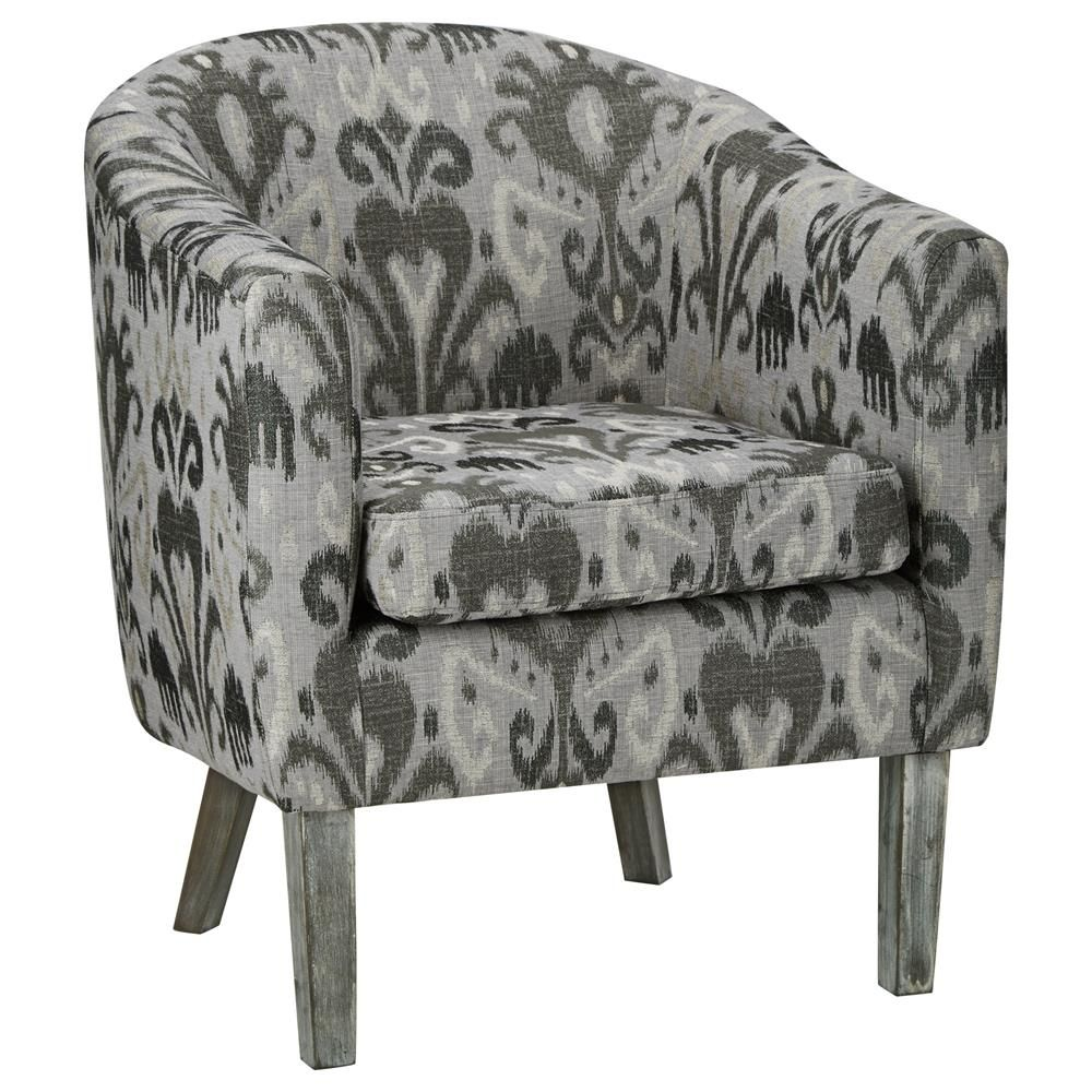 Awesome Jacquard Print Lounge Chair With Wood Legs Lounge Chairs Short Links Chair Design For Home Short Linksinfo