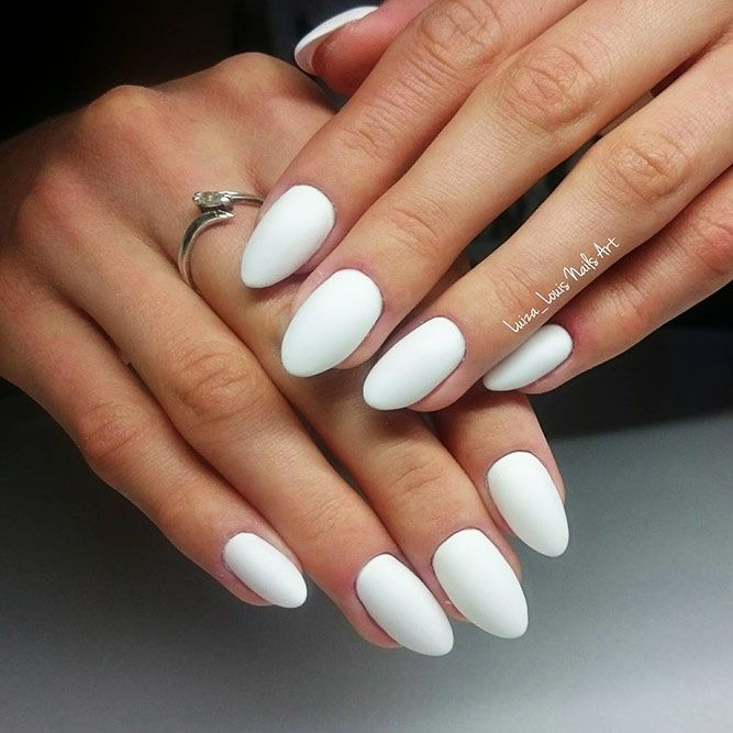 24 Fabulous White Nails Designs Worth Stealing White Nail Designs Matte White Nails White Nails