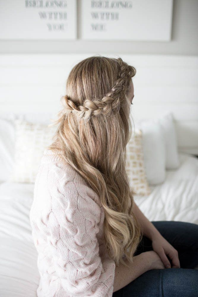 The perfect, easy side braid to hide bangs or keep hair ...