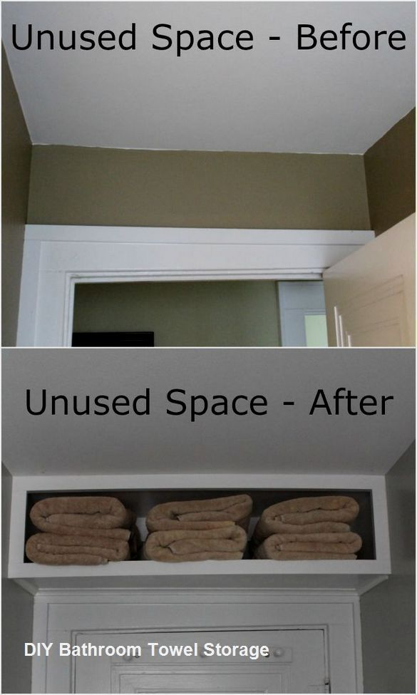 DIY Bathroom Towel Storage Ideas #bathtowels #bathroomdiy ...