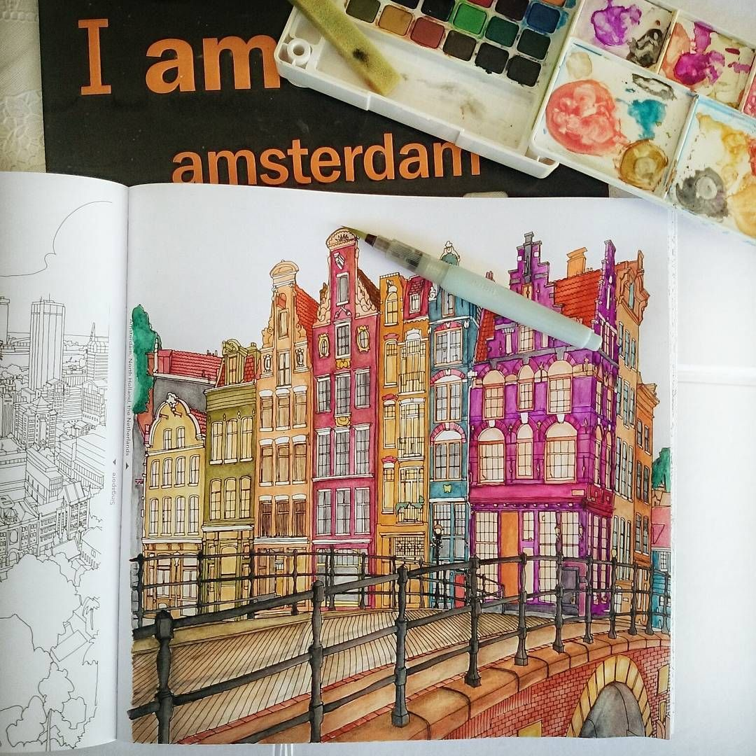 Fantastic Cities Adult Colouring Book
