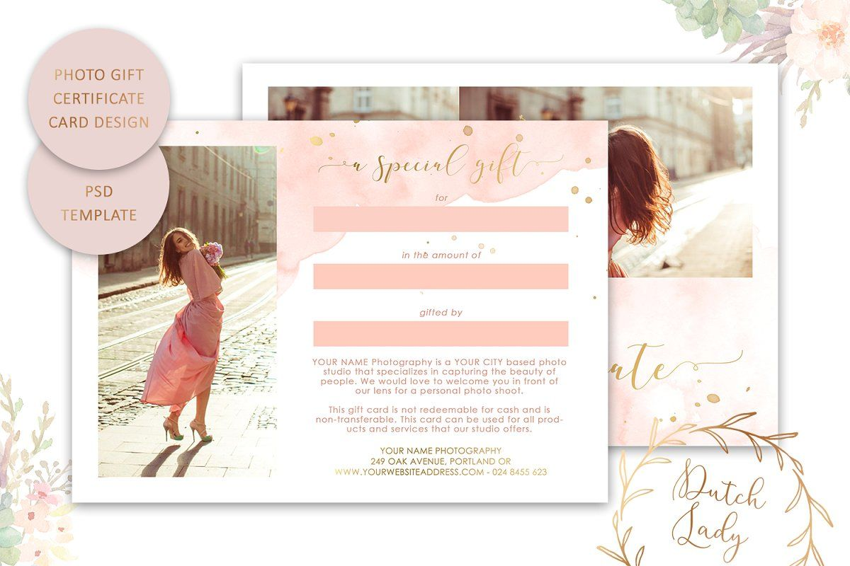 Psd Photo Gift Card Template 43 Photo Gift Cards Gift Card Template Photography Gift Certificate