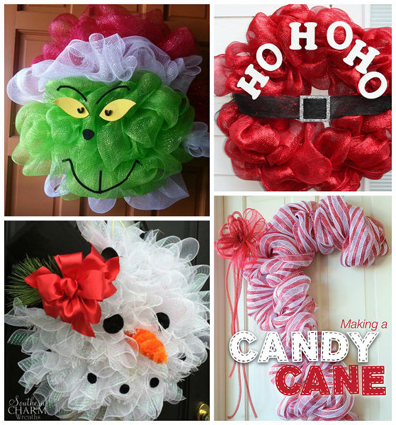 Fun Christmas Deco Mesh Wreath Ideas | Homemade wreaths, Christmas ...