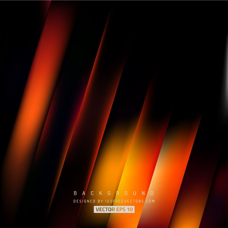 Abstract Black Orange Fire Striped Background