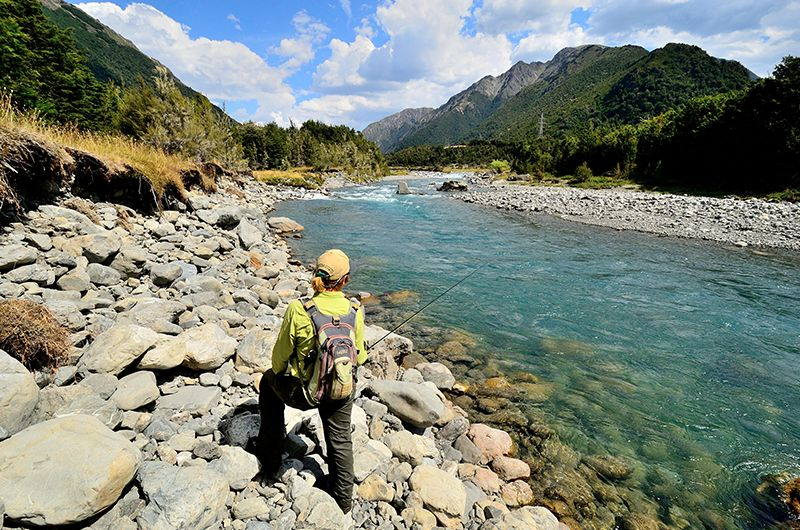 Thinking Ahead To Some Late Summer Fly Fishing In New Zealand April Is Usually A Great Time To Fish With Less People In 2020 Fishing Lodge Summer Fishing River Lodge