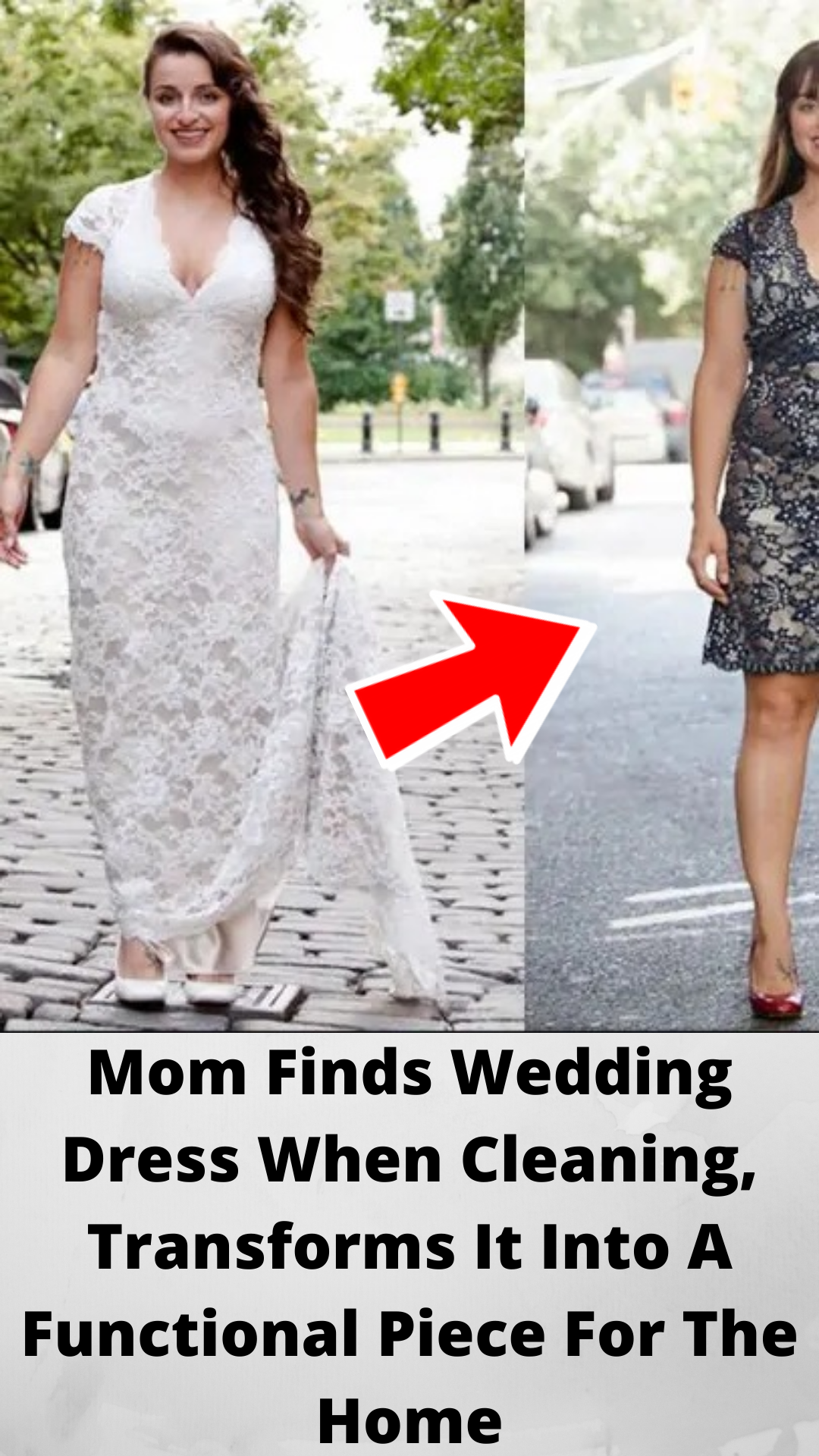 Mom Finds Wedding Dress When Cleaning Transforms It Into A Functional Piece For The Home In 2020 Find Wedding Dress Funny Prank Videos Crazy Funny Memes