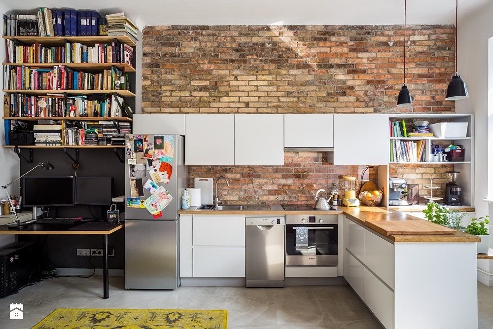 Zdjecie Kuchnia Styl Industrialny Loft Kitchen Kitchen Design Industrial Style Kitchen