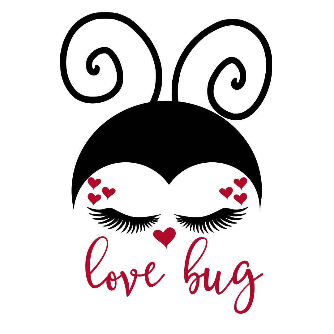 Download Lovebug Ladybug Valentine's Day hearts SVG | Valentines ...