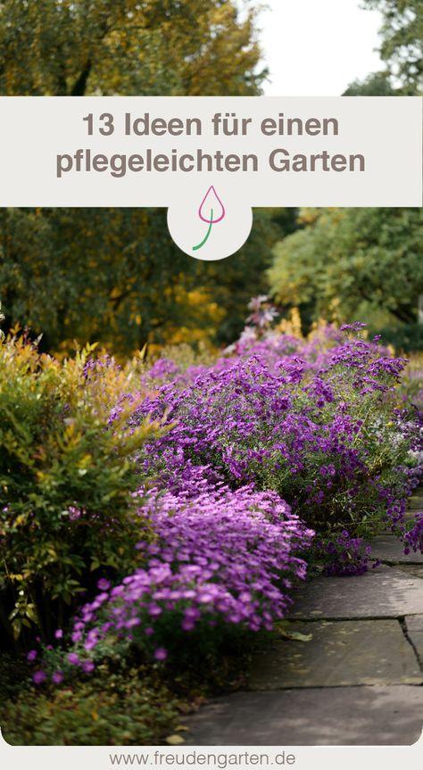 13 Gartenideen für einen pflegleichten Garten Pinterest - pflegeleichter garten modern