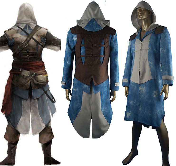 Oasis Costume - assassins creed black flag cosplay costume edward kenway jacket hoodie , £69.12 (http://www.oscostume.com/assassins-creed-black-flag-cosplay-costume-edward-kenway-jacket-hoodie/)