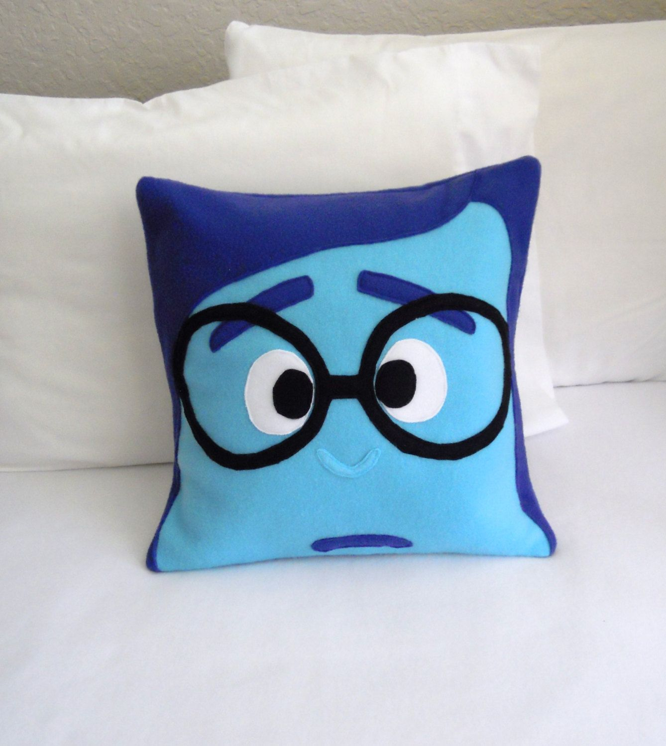 Sadness fleece pillow inside out by patternsofwhimsy on etsy
