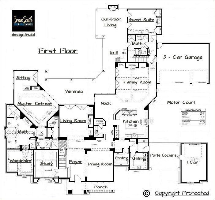 Great layout with a motor court floor plans pinterest for Million dollar home designs