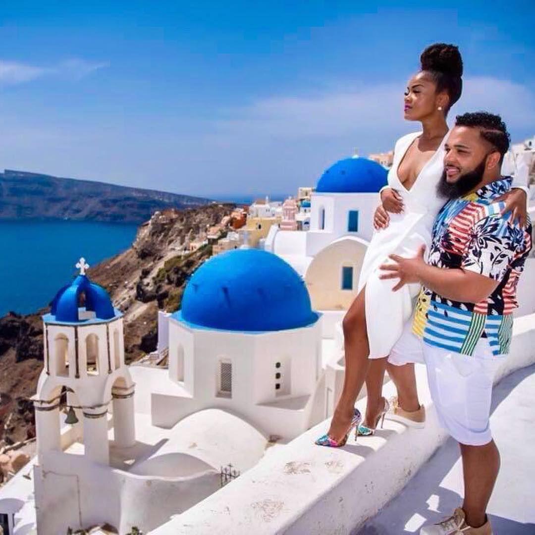 Image result for black couples in santorini greece
