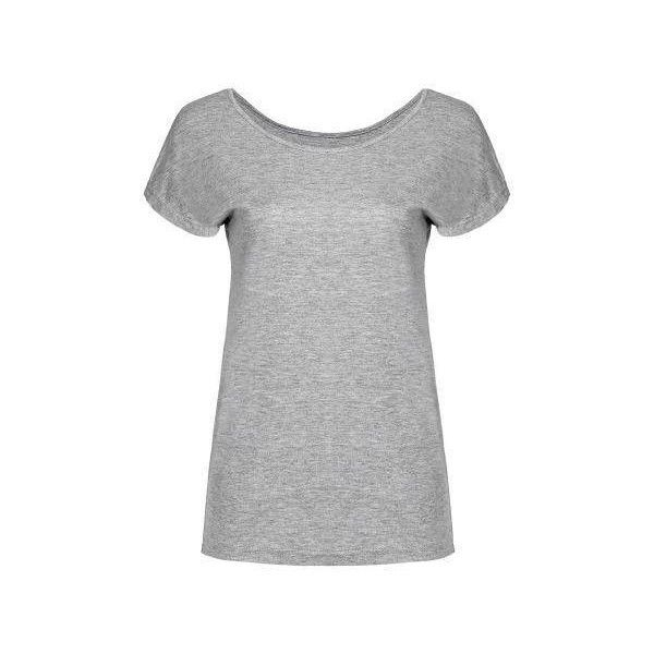 Yoins Grey T-shirt (18 CAD) ❤ liked on Polyvore featuring tops, t-shirts, yoins, grey top, cap sleeve top, round neck t shirt, cotton t shirt and cap sleeve tee