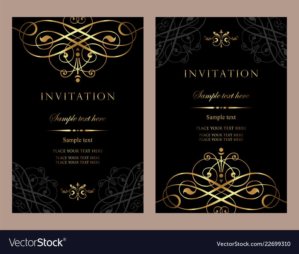 Luxury Invitation Card Template For Design Vector Image Aff Card Invitation Luxury Template Ad