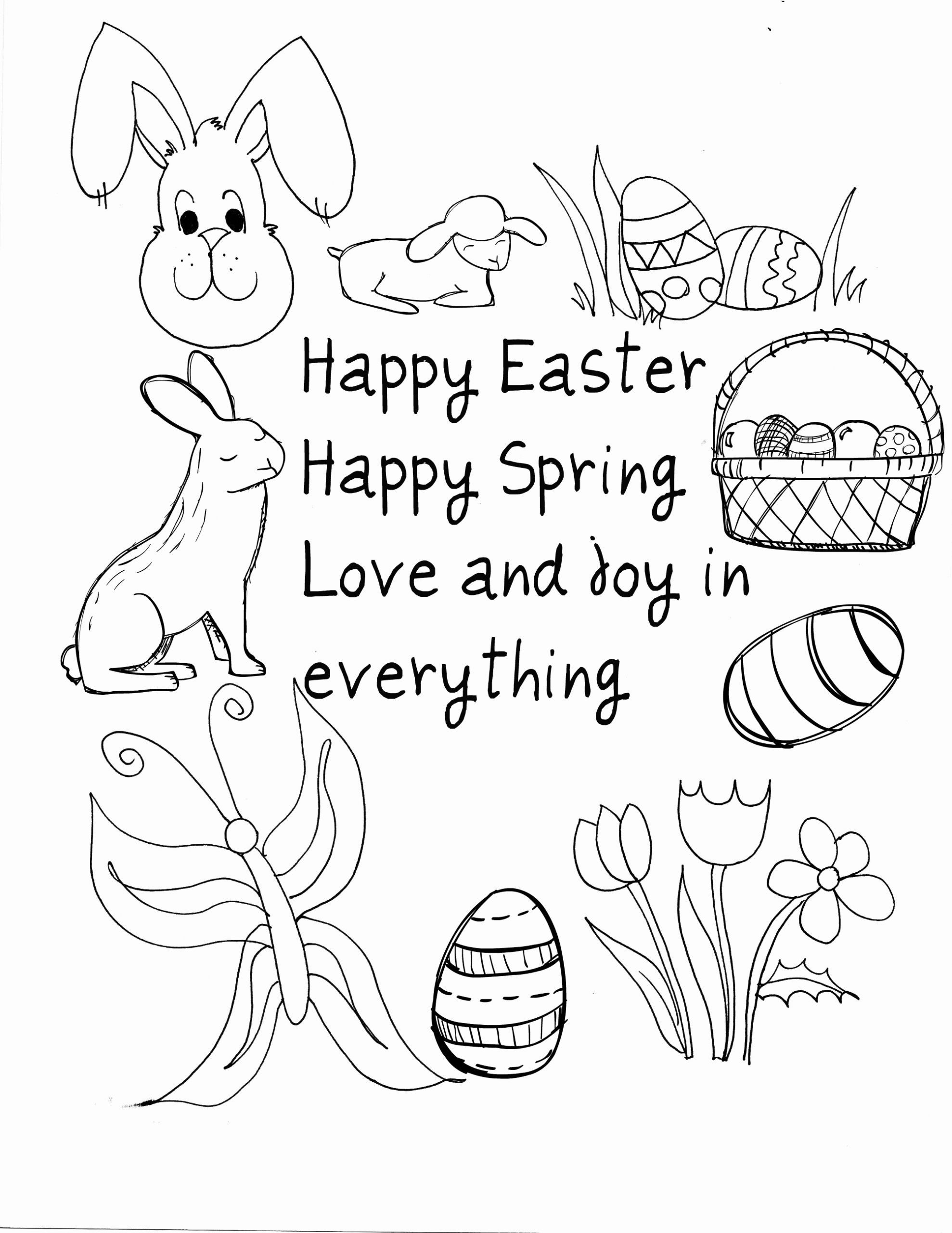 Happy Spring Coloring Pages Beautiful Happy Easter Coloring Pages