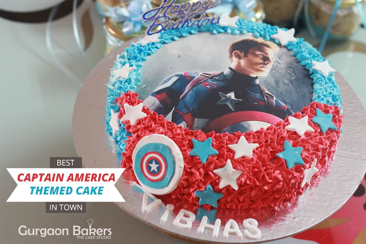 Order Captain America Cake And Cup Cakes Online If Youre Looking For A
