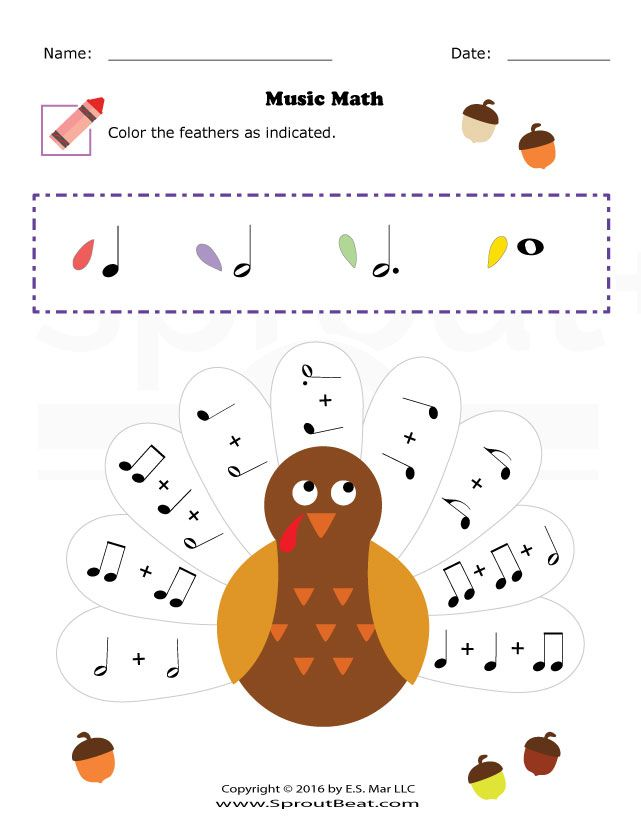 Thanksgiving – Music Math | Tanítás | Pinterest | Klavierunterricht ...