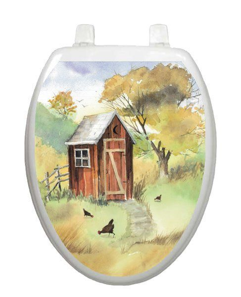 Watercolor Outhouse Toilet Tattoos Best Window Films Screen