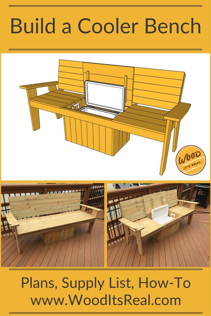 Build It The Most Amazing Cooler Bench Ever Pallet