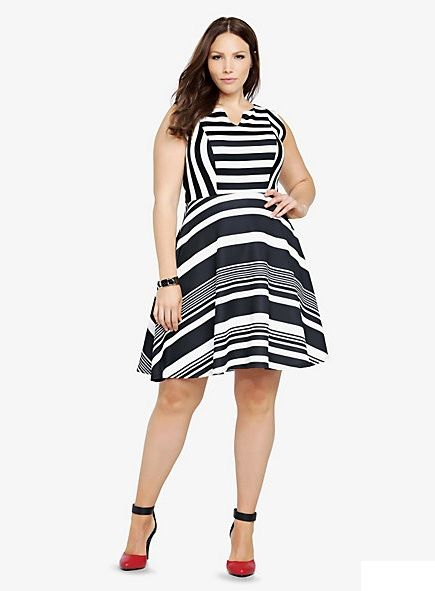 I ain't scared of no stripes!   Dress from Torrid.