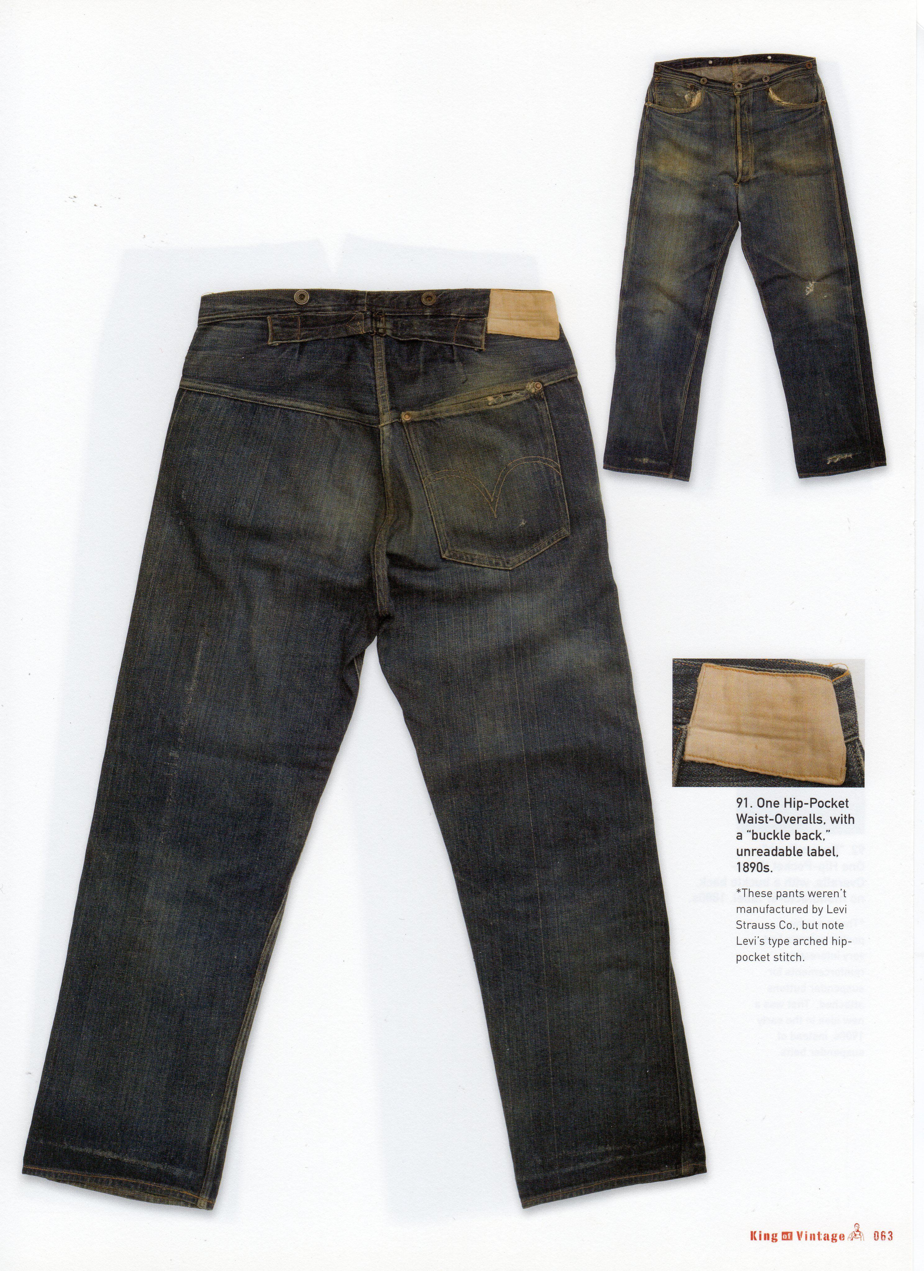 26100634ce9 Levi Strauss Waist-Overalls, 1890's | I love Levi's jeans | Jeans ...