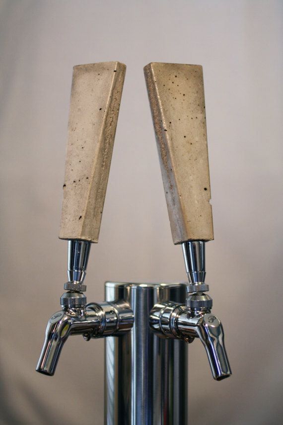 Concrete Tap Handle Blank Wedge Beer Taps Concrete