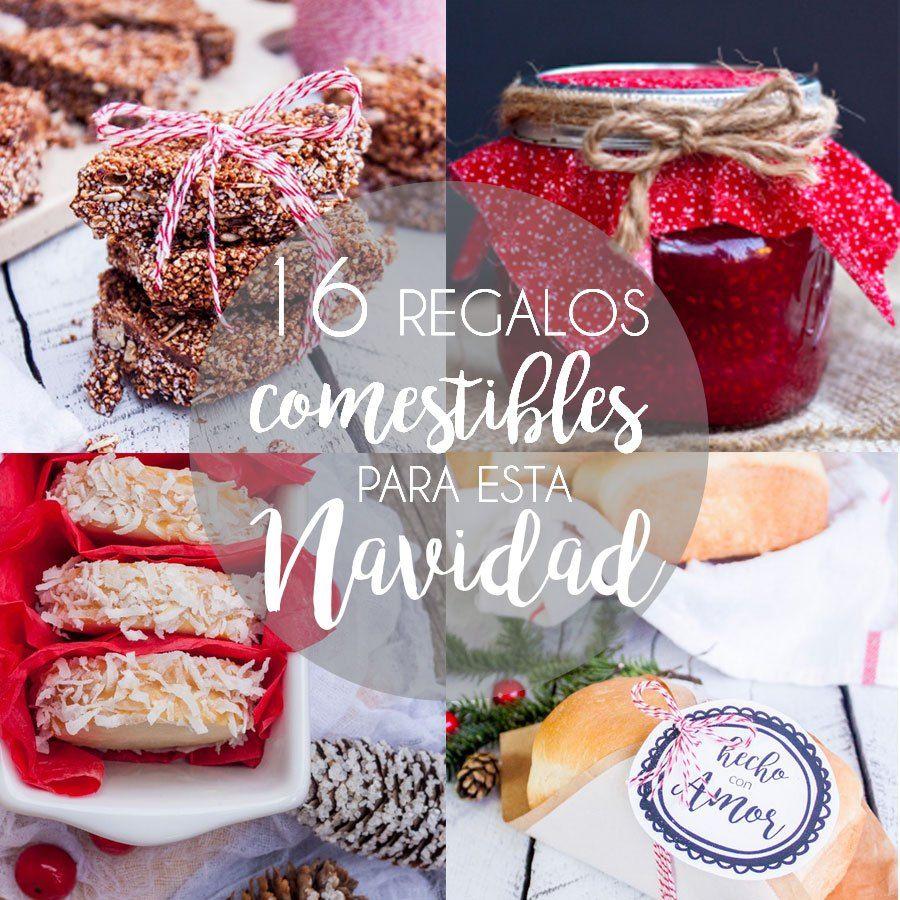 16 regalos comestibles para navidad etiquetas de regalo for Cosas originales para regalar
