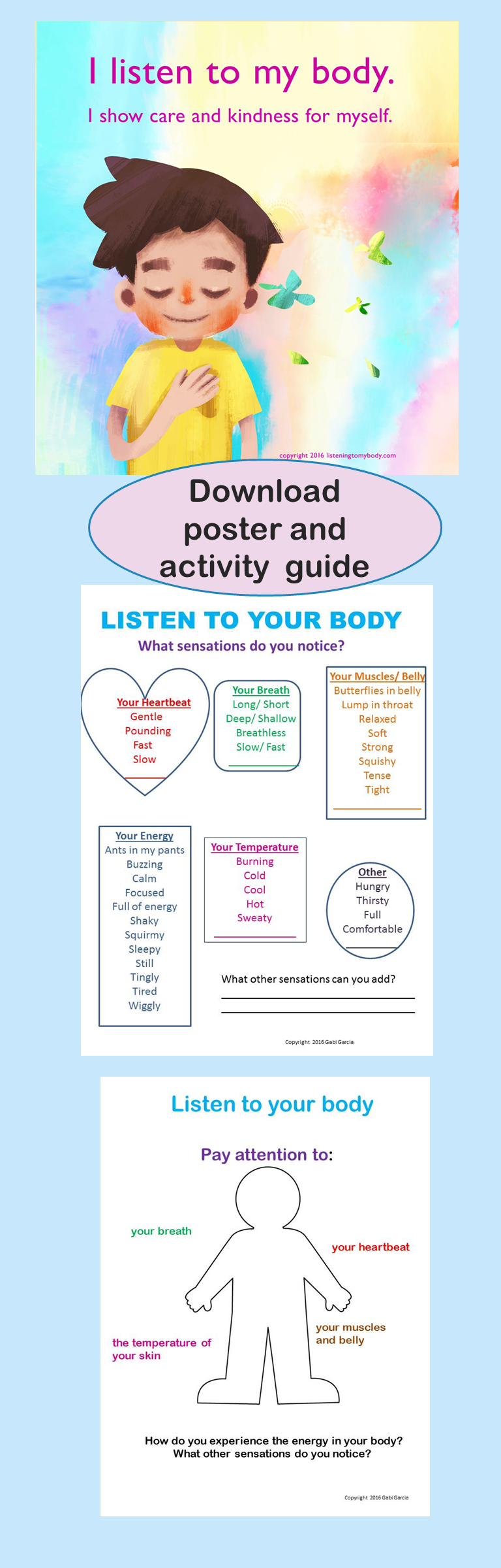 FREE posters and worksheets to support self-regulation and