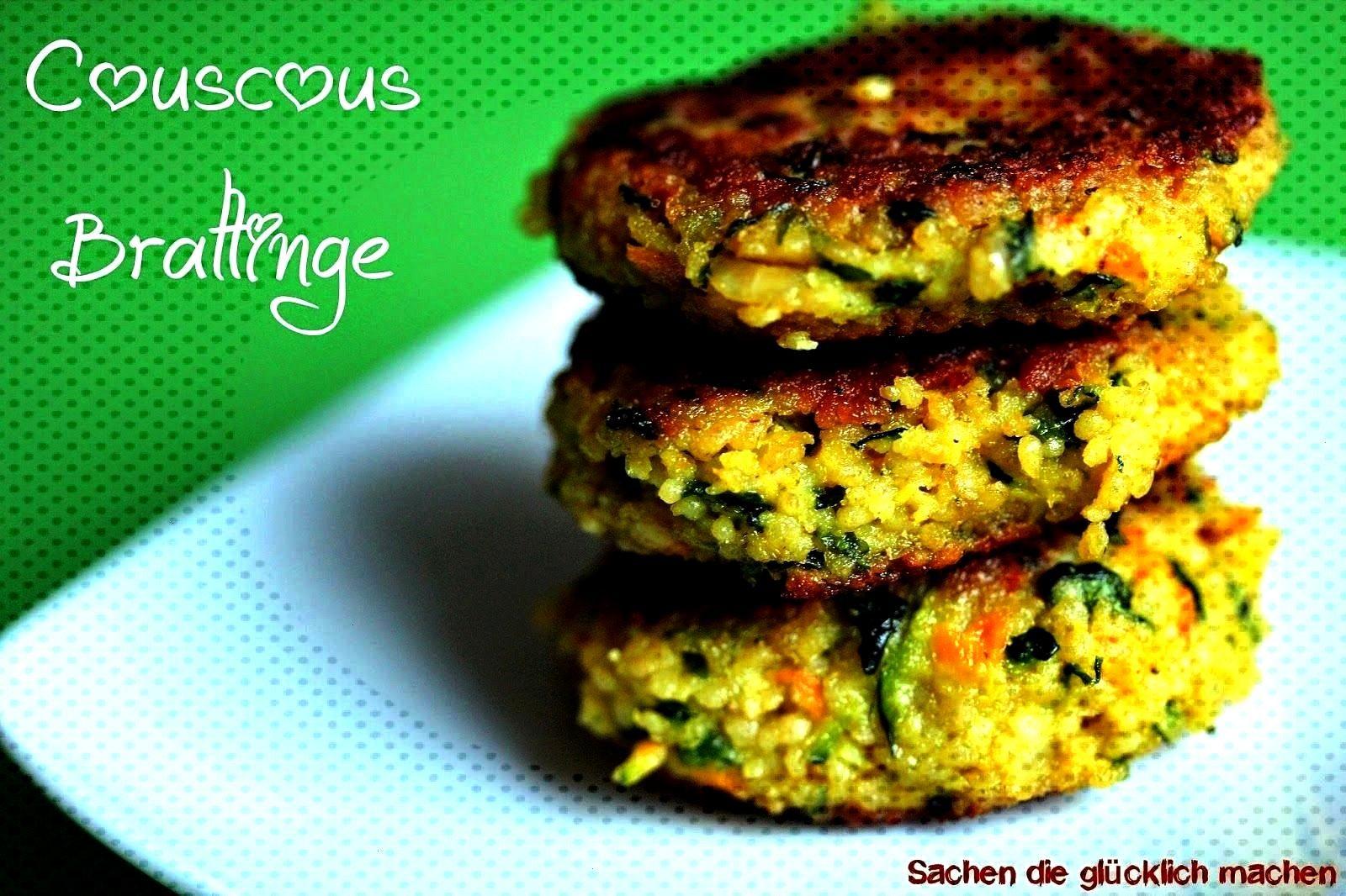make you happy: couscous patties (VEGAN possible) -  Things that make you happy: couscous patties (