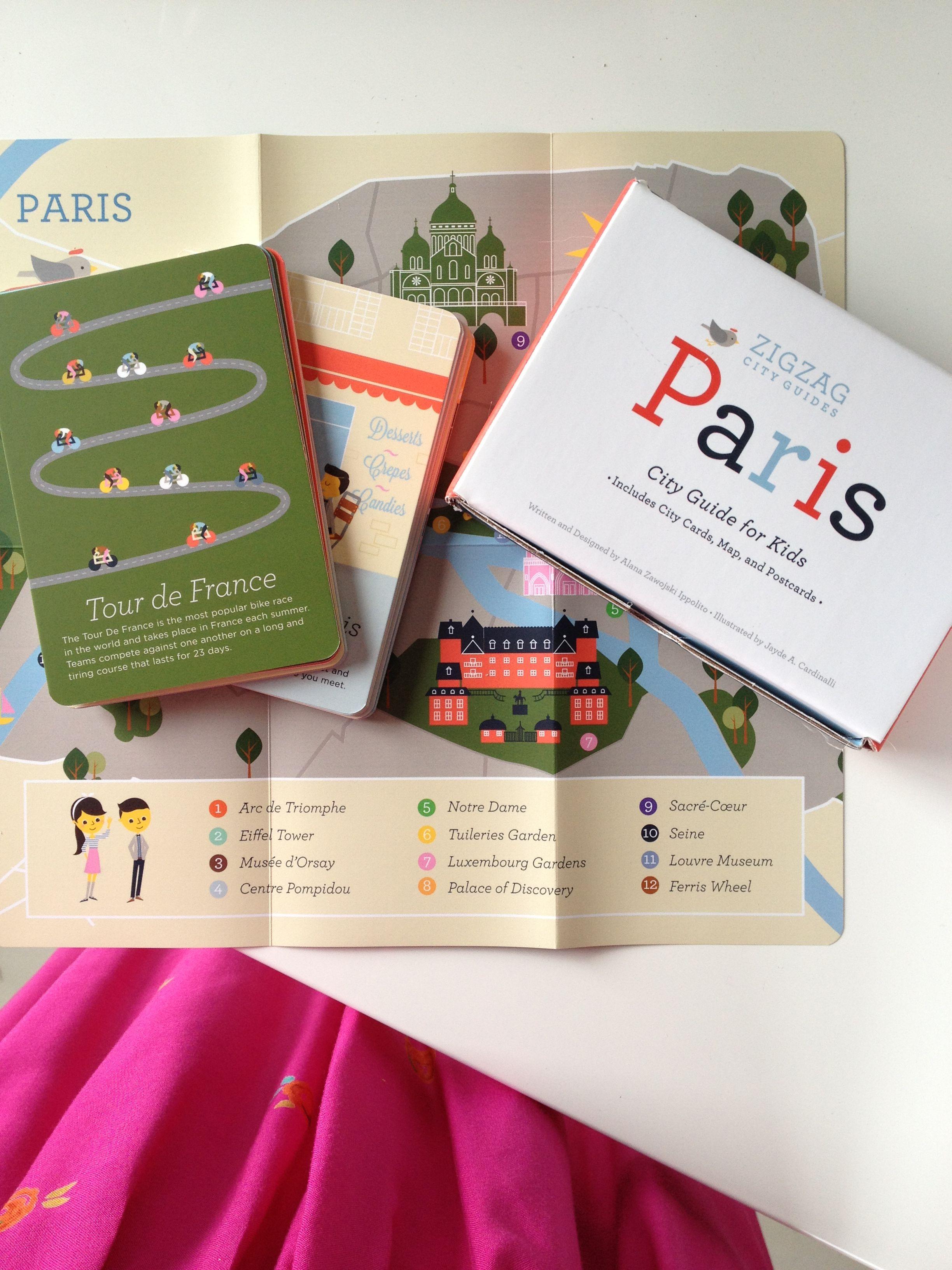 Paris city guide box for kids Nice